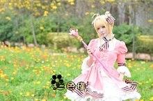 New Cardcaptor Sakura 20th Anniversary Pink Fancy Dress Kinomoto Cosplay Lolita Halloween Adult Costumes for Women