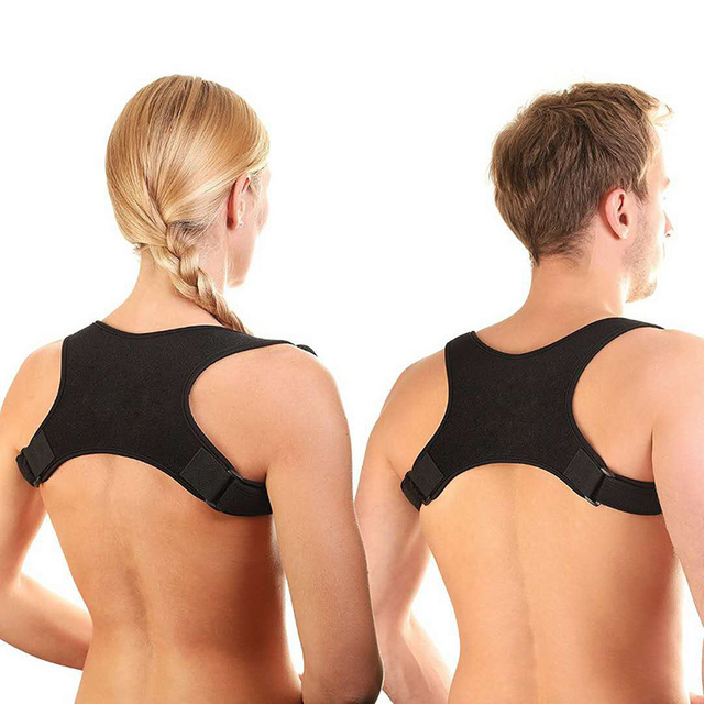 f666f4ec1 Adjustable Unisex Brace Support Belt Back Posture Corrector Clavicle Spine  Back Shoulder Posture Correction Prevents Slouching