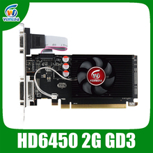 Veineda original HD6450 2GB DDR3 64Bit  625/1000MHz DVI/VGA/HDMI for normal PC and small PC