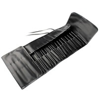 35Pcs Set Professional Makeup Brush Sets Cosmetic Brushes Kit Black Leather Case For Party Makeup Beautiful