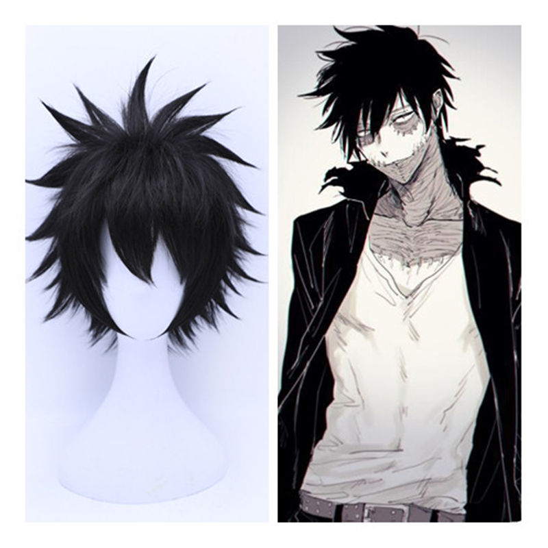 BOOCRE Anime Boku no Hero Academia My Hero Academy Dabi Cosplay Wig Dabi Costume Play Black Wigs Halloween Costumes Hair