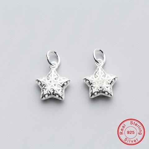 Uqbing 100% 925 стерлингового серебра 14*12*45 мм Полная звезда