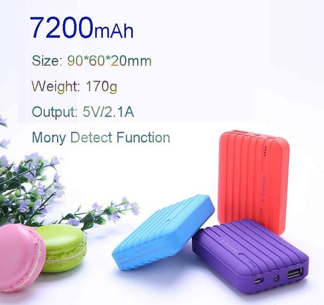 Novo elemento de água banco de potência 7200 mah para iphone xiaomi powerbank bateria de backup externo portátil para celular frete grátis