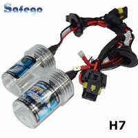 Safego 1 Pair AC 35W H7 HID Xenon Headlight Bulbs Singel Beam For Car Motorcycle Halogen Lamp 4300K 5000K 6000K 8000K 12V~24V