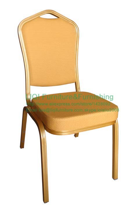 Wholesale Quality Strong Gold Aluminum Banquet Chairs LQ-L1030E