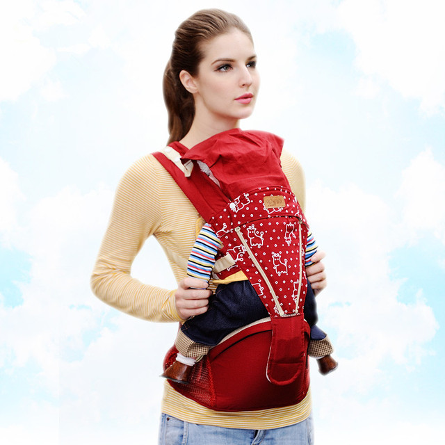 Fashion Kangaroo Backpacks Baby Kids Carriers Sling and Hipseat Shoulders Carrying Baby Infant Care Suspenders Free Shipping