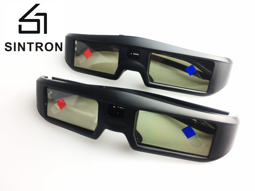 [Sintron]2 New Rechargeable 3D Glasses for 2017 Sony/Panasonic/Samsung 3D TV & Epson,Compatible TDG-BT500A TDG-BT400A TY-ER3D4MA compatible epson g5 universal 3d glasses by quantum 3d