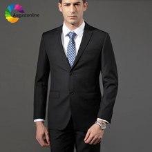 Custom Made Black Business Men Suits for Wedding Groom Tuxedo Slim Fit Best Man Blazer Jacket Pants 2Piece Costume Homme Mariage