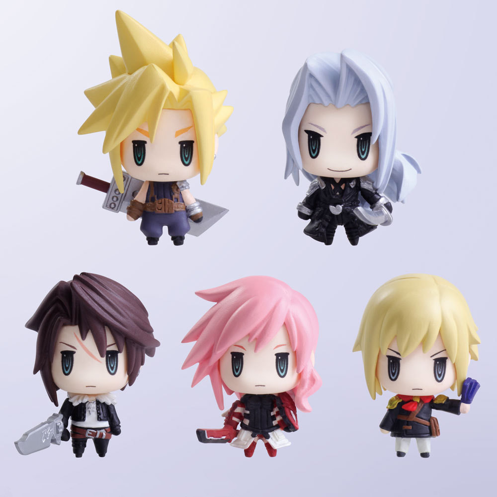 Spot Q version SquareEnix Final Fantasy Mini Doll 5 Set Claude Safer Ross and other models Toy Boys Birthday Gifts