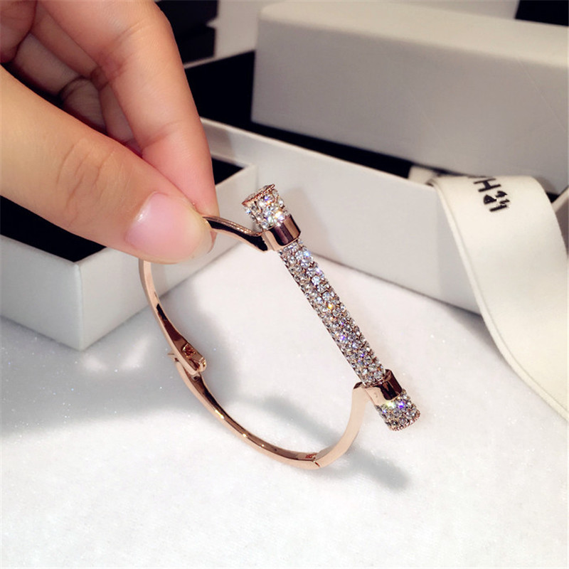 Híres luxus teljes kristály patkó mandzsetta karkötők és karkötők strasszok Pulseira Feminina karperec kar mandzsetta Bijou Brassard
