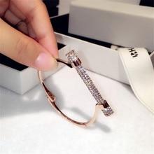 Famous Luxury Full Crystal Horseshoe Cuff Bracelets&Bangle Rhinestones Pulseira Feminina Bangles Arm Cuff Bijou Brassard