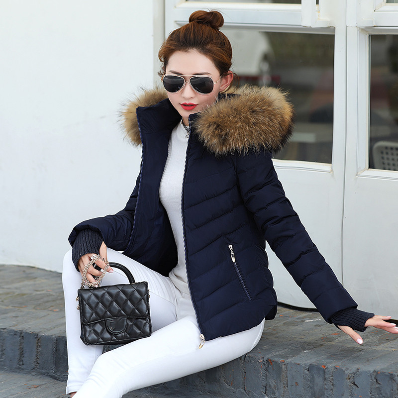 Winter Jacket Parka Snow-Wear Wadded Women's Autumn And Cotton Female