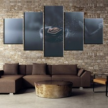 Modular 5 Piece Canvas Art Ice Hockey Sport Soldiers Logo Paintings on Wall for Home Decorations Decor Framework
