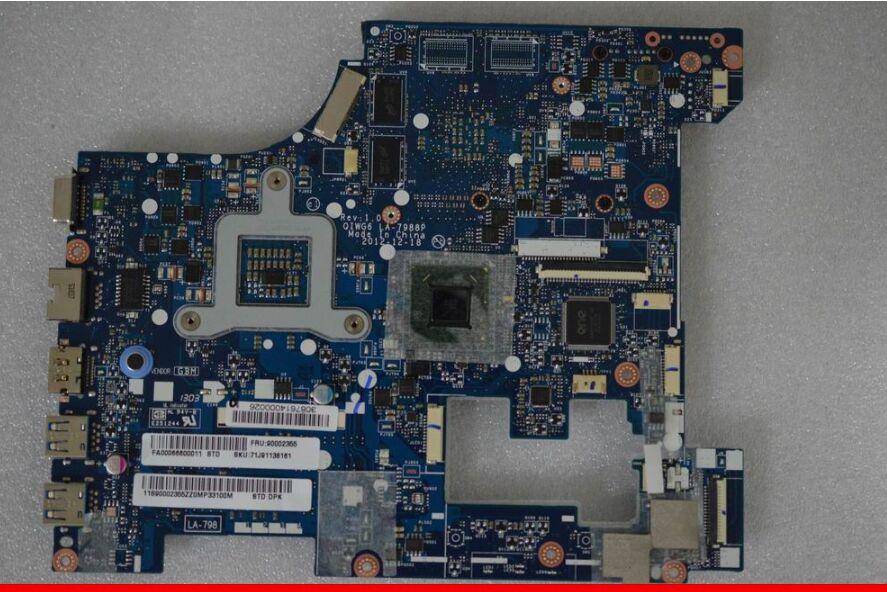 Prix pour Original Pour Lenovo G580 Mère D'ordinateur Portable QIWG6 LA-7988P REV: 1.0 mainboard avec Nvidia N14M-GL-B-A2 GPU