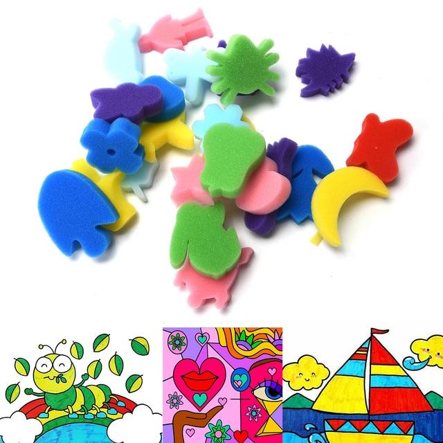 24PCS Sponge Set Art Craft Painting Children Kids DIY Toy Graffiti Home Education School