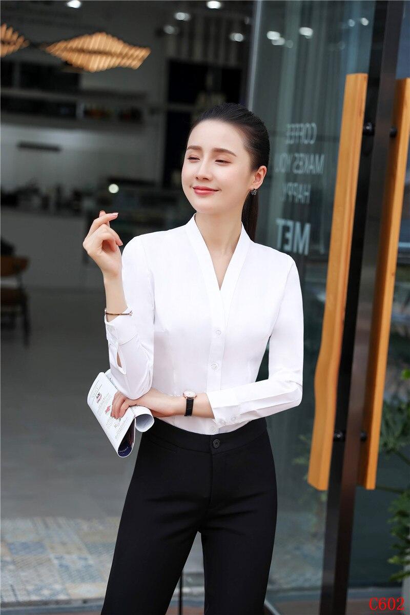 Donne Vestiti Stili Usura Bianco 2 Delle Del Pezzo Ufficio Set Lavoro E Modo Magliette Camicette Di Pant Uniformi Ol Signore Awq0tt