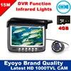 Eyoyo Original 15M 4 3 Underwater 1000TVL Ice Fishing Camera Fish Finder VIdeo Recording DVR 8