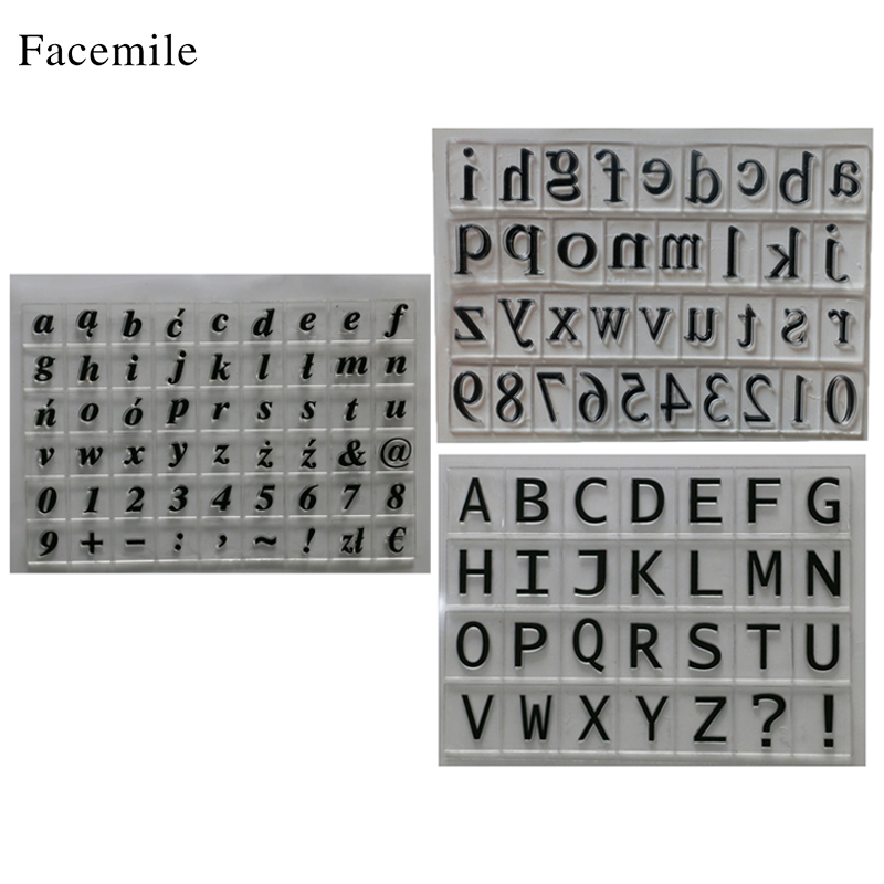 Facemile New Scrapbook DIY Photo Album Account Transparent Silicone Rubber Clear Stamps  ...