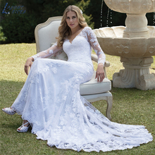 LAYOUT NICEB SHJ240 Cut-out Mermaid Wedding Dresses V-neck