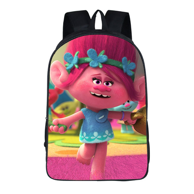 2018 new women bags moive trolls prints backpack students school bag