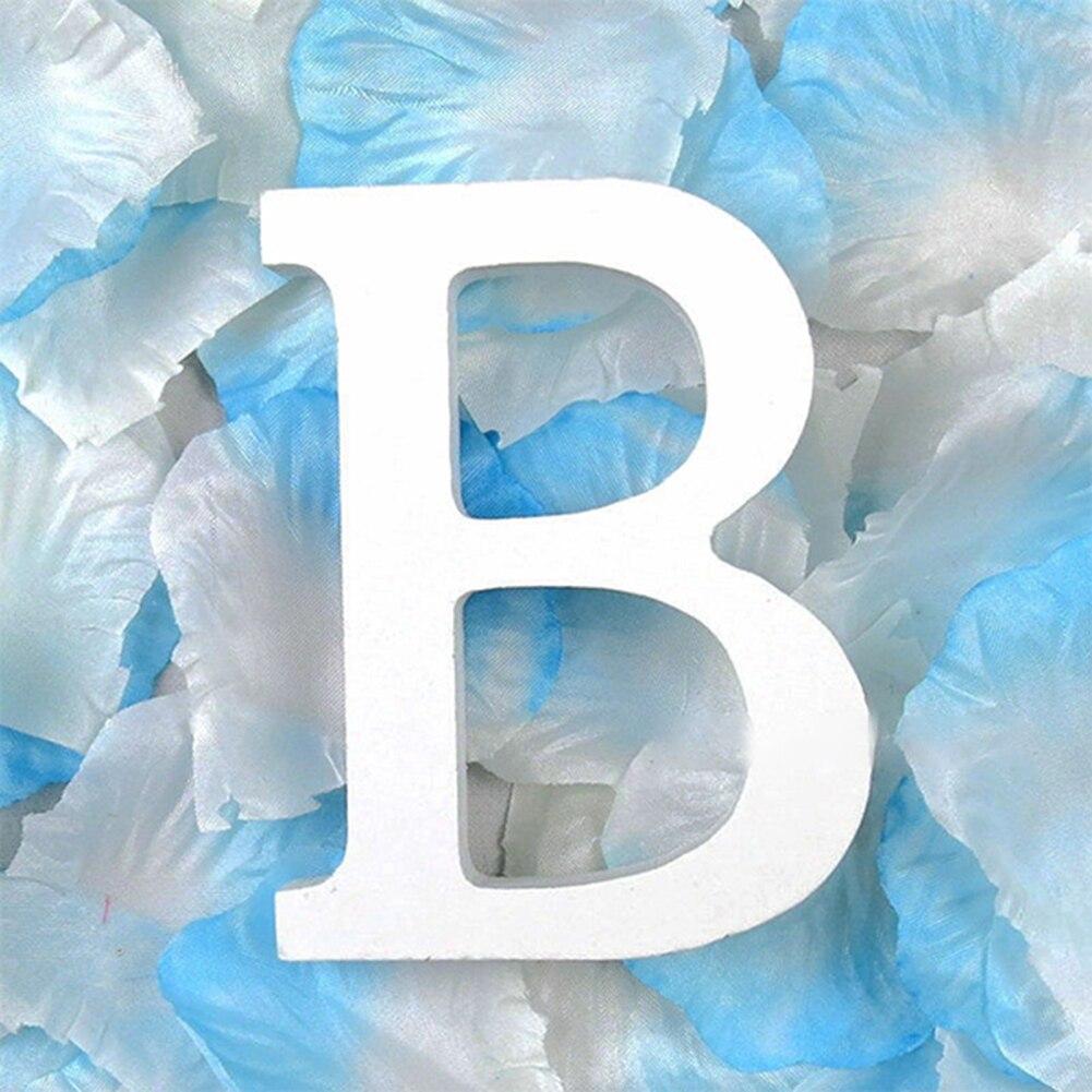 3D деревянные буквы letras decorativas персонализированное Имя Дизайн Искусство ремесло деревянные украшения letras de madera houten буквы - Цвет: B