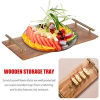 Kitchen Plates Set Wooden Tray Hotel Storage Tray Sushi Fruit Pizza Steak Snacks Food Plate Afternoon Tea Wedding Plates Party