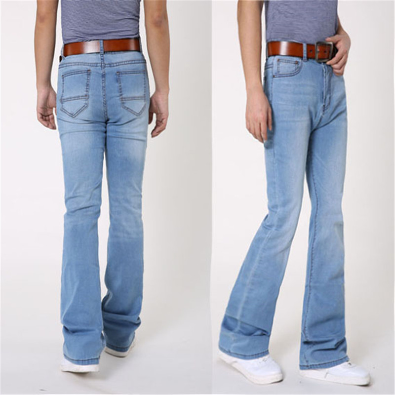 Spring And Autumn Classic Flared Jeans Fashion Korean Slim Denim Pants Casual Wild Youthful Jeans Light Blue Jeans