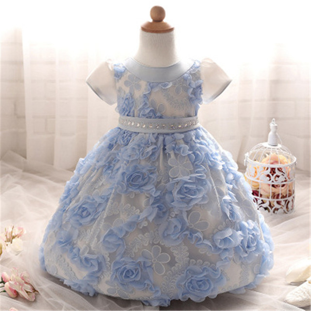 2016 Rose Flower Girl Dress Summer Ball Gown For Girl For Wedding Birthday Party Wear Big Little Girls Dresses Baby Kids Clothes