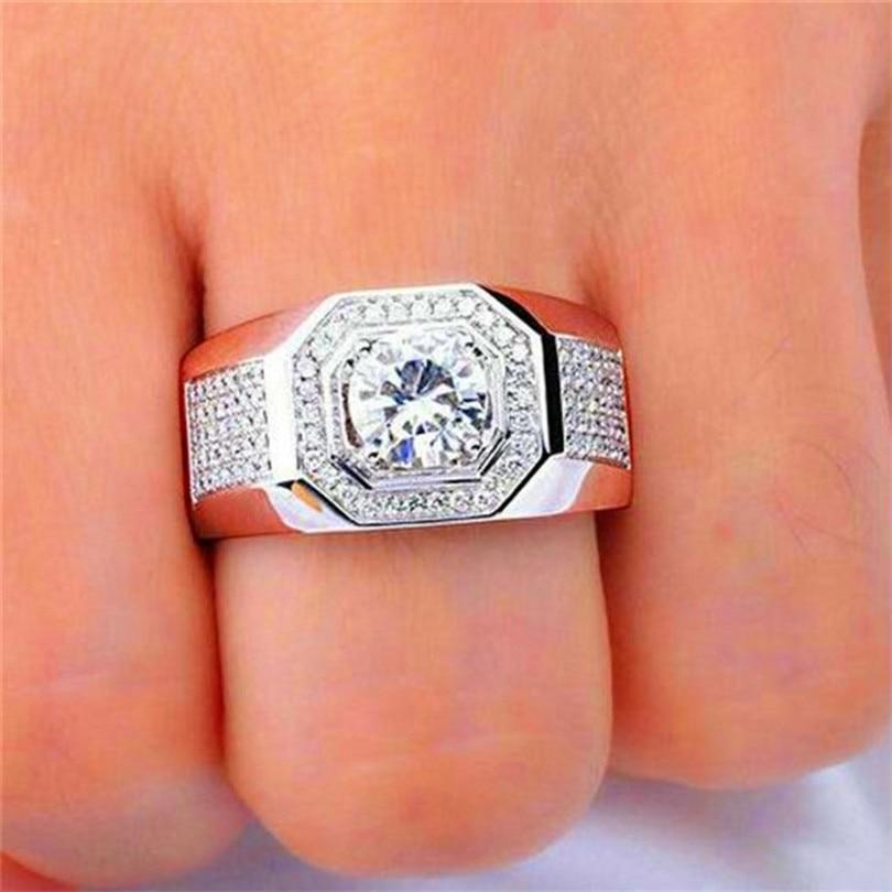 Choucong Bijoux Hommes 925 Sterling Silver & or rose 1.5ct Diamant - Bijoux fantaisie - Photo 3