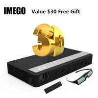 Светодиодная с долгим сроком службы Full HD домашнего кино ТВ проектор 3D Мультимедиа Видео игры Smart Dual проекторы Wi Fi Bluetooth цифровой мини свет