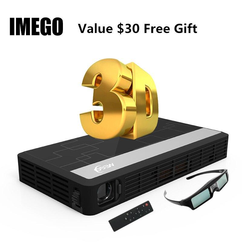 Longue durée de vie LED Full HD Home Cinema TV projecteur 3D multimédia jeu vidéo intelligent double WIFI projecteurs Bluetooth numérique MINI lumière