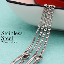 50 pcs - Stainless Steel Curb Chain, Chain Necklace, Necklace 2mm