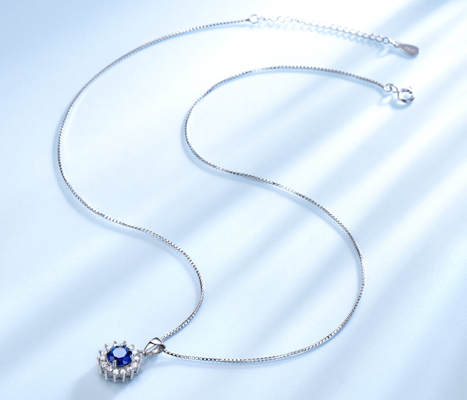 UMCHO Sapphire 925 sterling silver jewelry set for women S020S-1 (7)