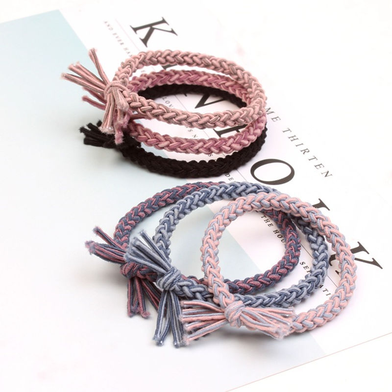 Korea Braid Hair Rope Women Girl Elastic Hair Rubber Bands Accessories For Kids Tie Hair Ring Holder ScrunchyHeadwear Headdress