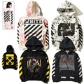 OFF WHITE C/O Hoodies Men Women Brand Clothing Religious Outerwear Coats Hip Hop Skateboard PALACE VLONE Male Hooded Sweatshirts