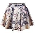 Skirt Middle Earth Map Circle Skirt Skater Pleated Mini Short Skirt f7