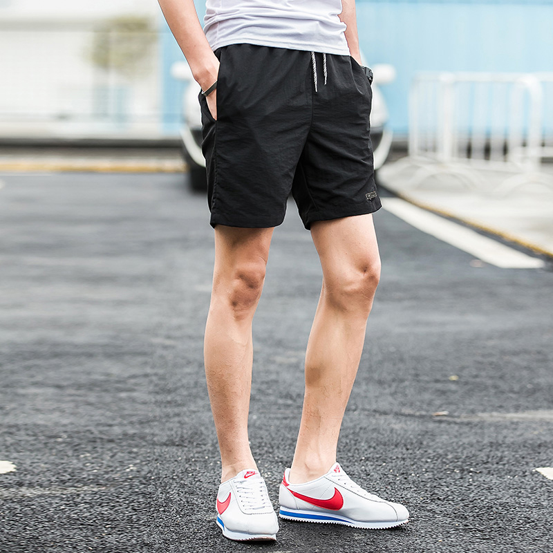 2019 New Shorts Men Summer Beach Board Shorts Hot Sale Casual Short Male Solid Quality Elastic Fashion Fast Dry Short S-5XL 1007