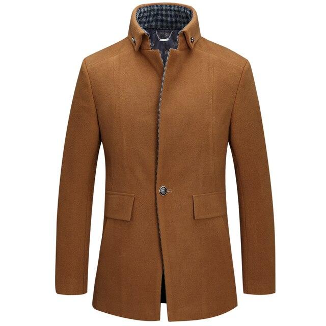 Cappotti di Lana e Giacche da uomo Inverno Giacca di Cashmere Uomo Lungo  Tratto di Stile fd807d1416a