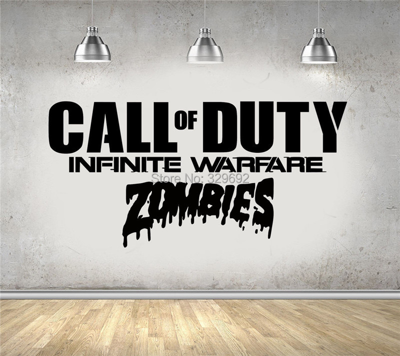 video game wall stickers Call of Duty Infinite Warfare Zombie...