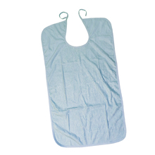 Waterproof Washable Adult Disability Bib Mealtime Cloth Protector Apron Blue