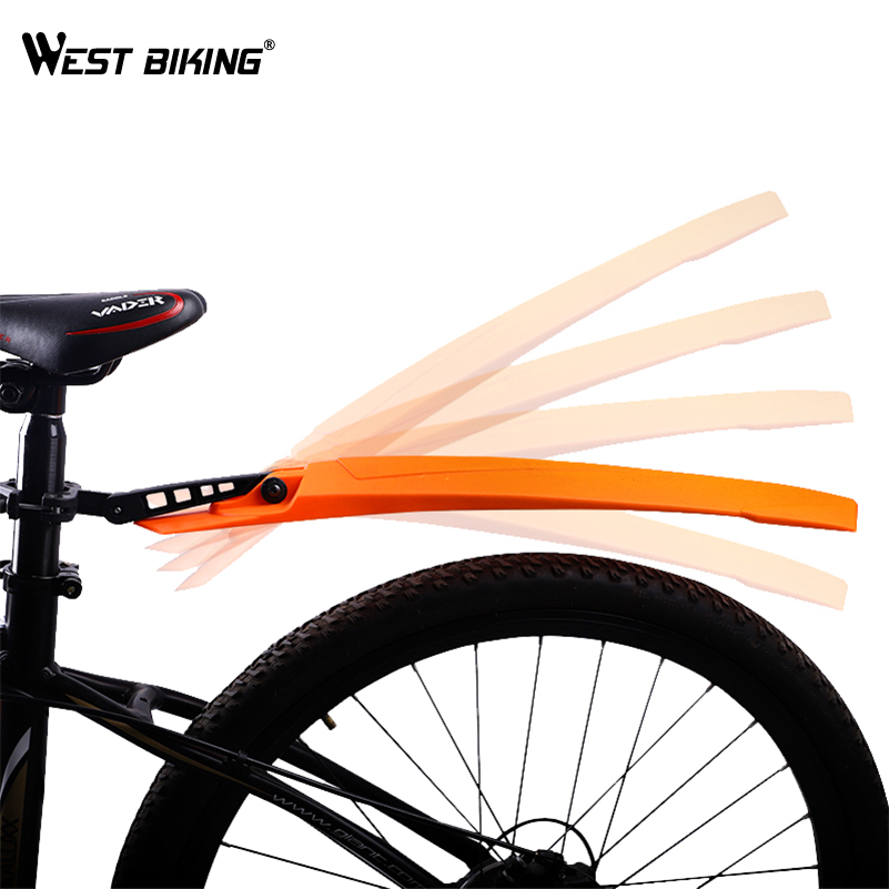 WEST BIKING High Elastic Bicycle Fenders 1Pair Road Mountain Bike Front Rear Mudguard Set Quick Release Cycling MTB Bike Fenders