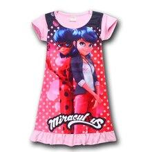 Milagrosa CALIENTE Mariquita Vestido de Verano para Niñas de Los Niños de Algodón de Manga Corta Traje de Moda Niños de la Muchacha Dots Imprimir Vestido Recto(China (Mainland))