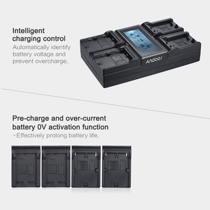 Image 3 - Andoer LP E6 LP E6N NPFW50 NP FW50 Digital Camera Battery Charger for Canon 5DIII 5DS 5DSR 6D 7DII 80D 70D for Sony a7 a7R etc