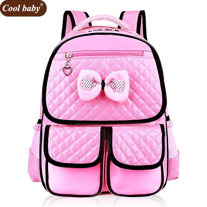 Cool Baby High Quality Pu Girl Backpack New Fashion Grade 1 3 6