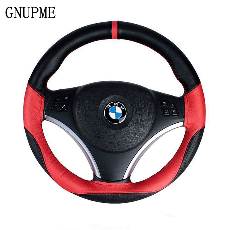 Super anti-wear Hand-Stitched Car Steering Wheel Covers/Universal 38cm Breathable Anti-slip steering-Wheel Sleeve Protector