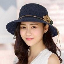 2018 New Female Summer Beach Hat Sun Hats Travel Cap Ladies Wild Big Hat Flower Lace Sunscreen Elegant