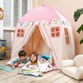 Дерево любви Ребенок Играть Дома Хлопок Холст Крытый Детские Спальные Палатки Большой Дом-Розовый Дом игрушка палатка