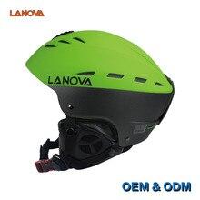 LANOVA Professional Youth Adult Ski Helmet Skating / Skateboard Helmet Multicolor Snow Sports Helmets 6 Color 2 Size недорого