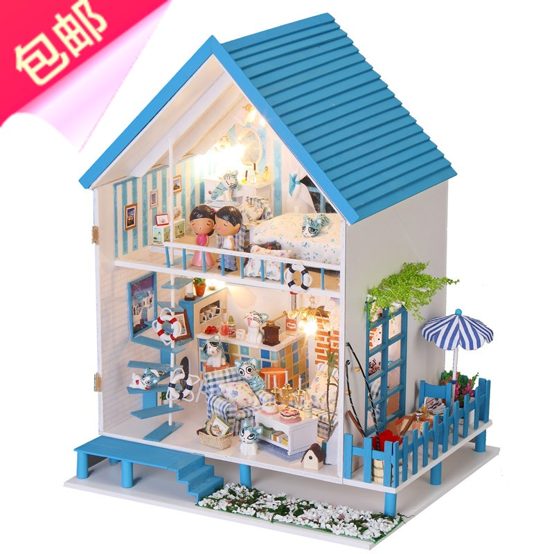 DIY Model Villa Send Girls Boys Girlfriend Birthday Gift For Children Of School Age 10 12 16 18