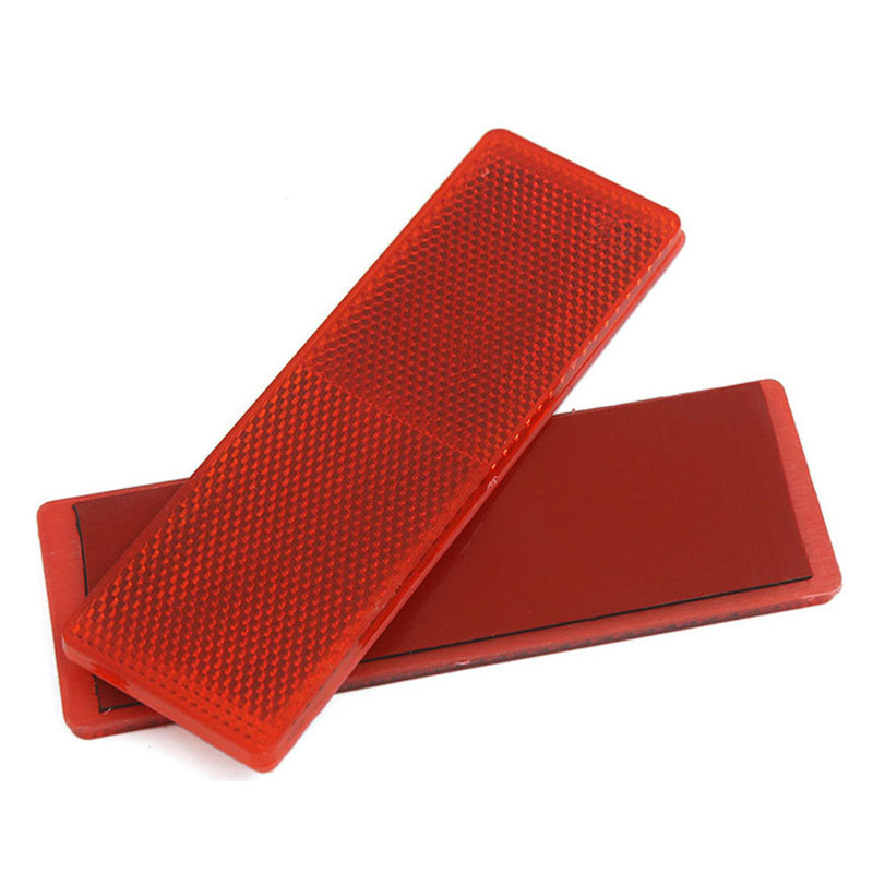 5*15cm Red White Truck Safety Warning Tape High Visibility Automobile Car Plastic Reflective Tape Panel With Strong Glue Sticker